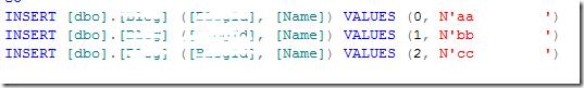 DataInsertSqlScript